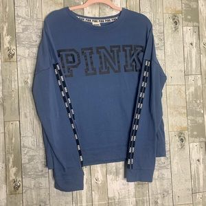 Pink | Navy Blue Sweatshirt